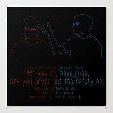 Twenty One Pilots - Guns For Hands Canvas Print