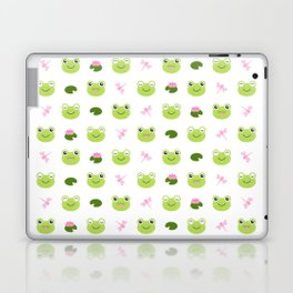 Frogs, Dragonflies and Lilypads on White Laptop & iPad Skin