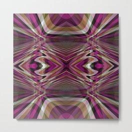 Interrupted Lines Mirror Pattern 2 Metal Print