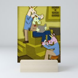 Horn & Shoe Shiner Unicorn Mini Art Print