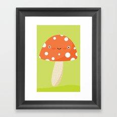 mushroom head Framed Art Print