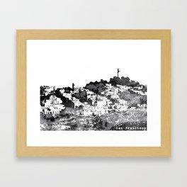 Telegraph Hill Print Black and Grey Framed Art Print