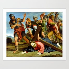 Domenichino The Way to Calvary Art Print