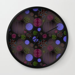 plastic bubbles Wall Clock