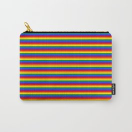 Horizontal Gay Pride Rainbow Flag Pin Stripes Carry-All Pouch