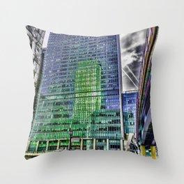 London Photography Canary Wharf Pop Art Throw Pillow