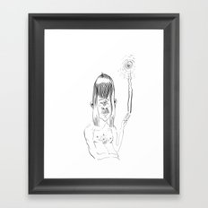 Peace-out Cyclops Framed Art Print