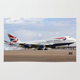 British Airways B747-400 landing Rug
