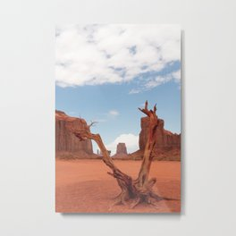 View Monument Valley | United States travel photography | Bright and pastel colored photo print |  Metal Print