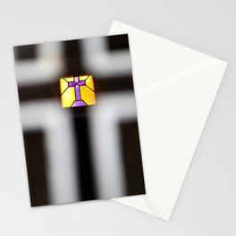 Illuminated Stained Glass Cross Stationery Cards