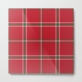Classic Christmas Red and Green Plaid Tartan Pattern Metal Print