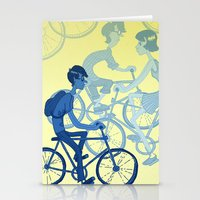 bicycles Stationery Cards featuring Bicycles by Van Huynh
