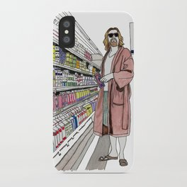 Jeffrey Lebowski and Milk. iPhone Case