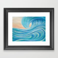 A Wave From It All beach surf art painting  Framed Art Print