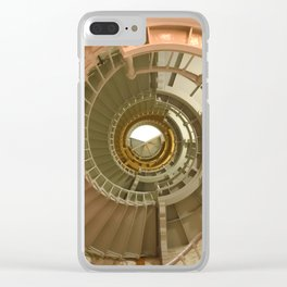 Gray's Harbor Lighthouse Stairwell Spiral Architecture Washington Nautical Coastal Clear iPhone Case