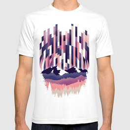 Sunrise in Vertical - Winter Purple T-shirt
