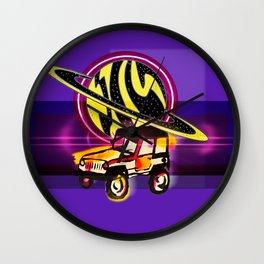 Planet Jeep Wall Clock