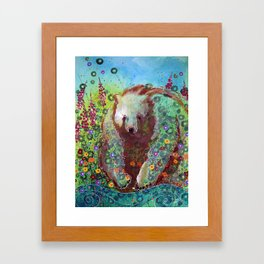 Fireweed Bear Framed Art Print