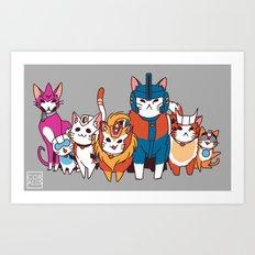 More than meets the cat! Art Print