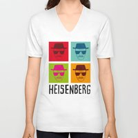 popart V-neck T-shirts featuring Heisenberg Popart by Nxolab
