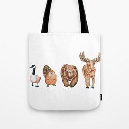 Canadian Crew | Woodland Animals Nursery Art Tote Bag