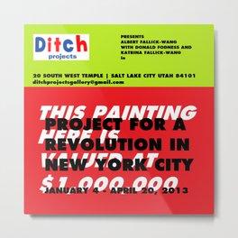 Ditch Projects Artforum Advertisement Metal Print