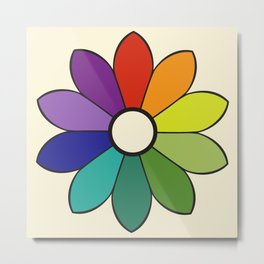 James Ward's Chromatic Circle 1903 (no background; interpretation) Metal Print
