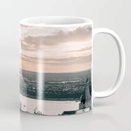New York City Sunset Skyline Coffee Mug