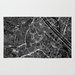 Vienna Black Map Rug