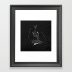 the wizard does not remain the same Framed Art Print