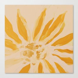 Sun Blooming Flower Canvas Print