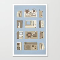 technology Canvas Prints featuring Obsolete Technology by Daniel long Illustration
