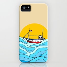 The little fishing boat iPhone Case
