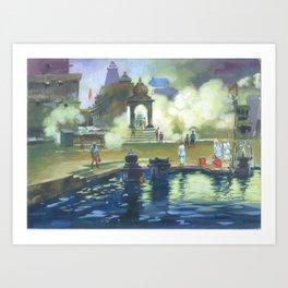 Painting by Niladri Roy for OSA NY/NJ Chapter 2018 Kumar Purnima Art Print