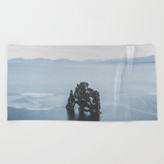 Hvitserkur, Iceland III Beach Towel