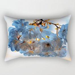 SPRING BLOSSOMS - IN BLUE Rectangular Pillow