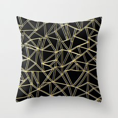 Ab Gold and Silver Throw Pillow