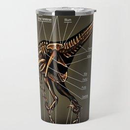 Velociraptor Skeleton Study Travel Mug