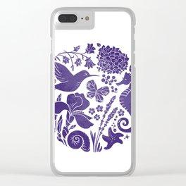 La vie en ultra violet Clear iPhone Case