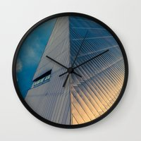 pyramid Wall Clocks featuring Pyramid by Cameron Booth