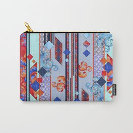 Spliced shapes Carry-All Pouch