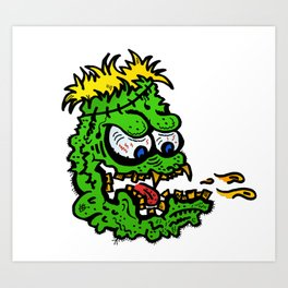 puking monster Art Print