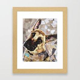Carson- The German Shepherd Framed Art Print