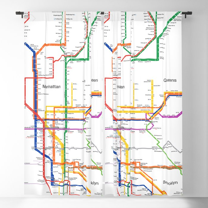 New York City Subway Map Brooklyn.New York City Subway Map Blackout Curtain By Igorsin