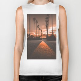 Road at Sunset Biker Tank