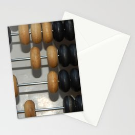 Manual mechanical abacus for accounting and financial calculations Stationery Cards