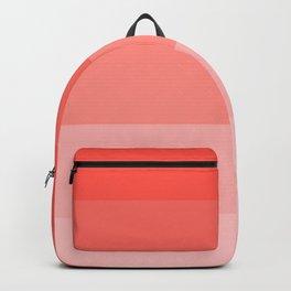 Living Coral Gradient Stripes Backpack