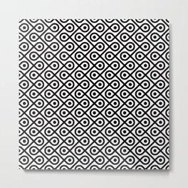 Geometric Pattern #197 (dots loops black) Metal Print