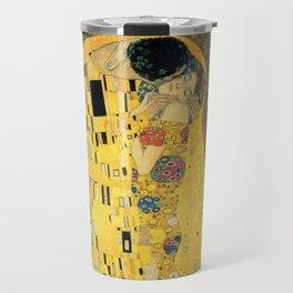 The kiss (1907-8) Gustav Klimt Travel Mug