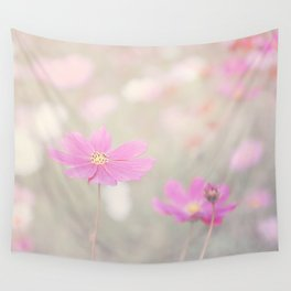 romantic flowers in soft pastel tones Wall Tapestry